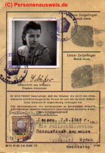 Personalausweis russische Zone (anklicken zum vergrößern)