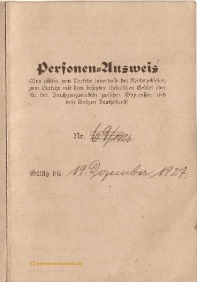 Personenausweis (anklicken zum vergrößern)